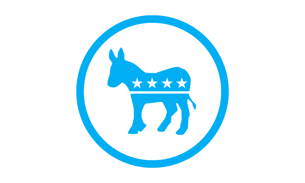 Democratic Party (Donkey) flag image preview