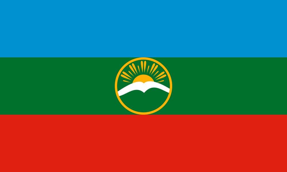 Karachay-Cherkessia flag image preview