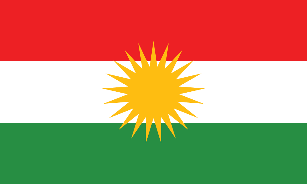 Kurdistan flag image preview