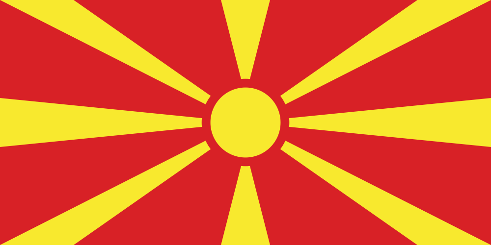 North Macedonia flag image preview