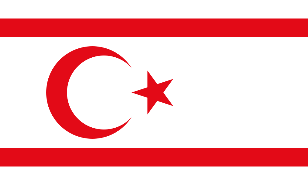 Turkish Republic of Northern Cyprus flag image preview