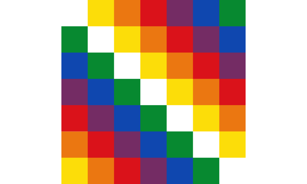 Wiphala flag image preview