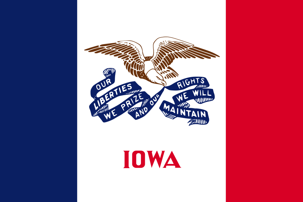 Iowa flag image preview