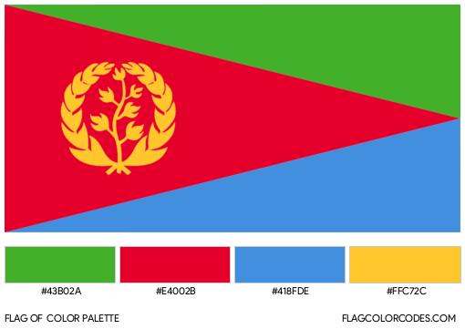 Eritrea Flag Color Palette