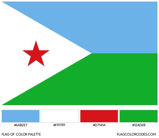 Djibouti Flag Color Palette