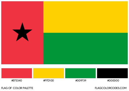 Guinea-Bissau Flag Color Palette