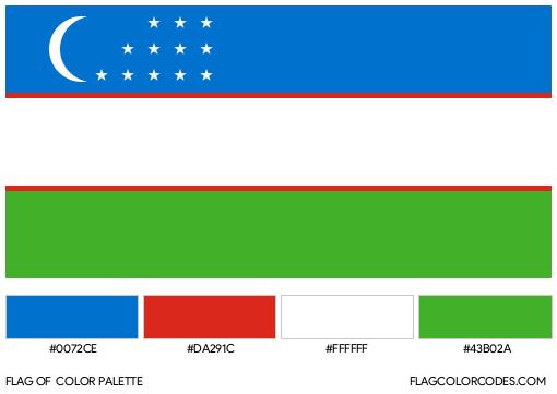 Uzbekistan Flag Color Palette