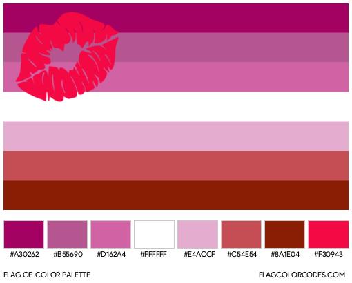Lipstick Lesbian Flag Color Palette