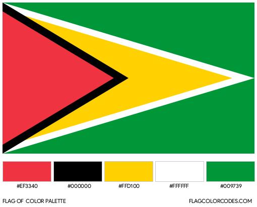 Guyana Flag Color Palette