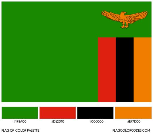 Zambia Flag Color Palette