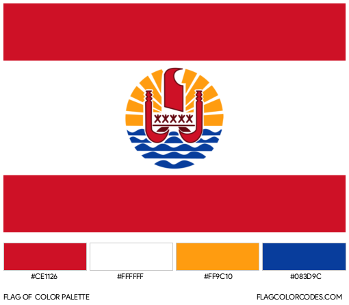 French Polynesia Flag Color Palette