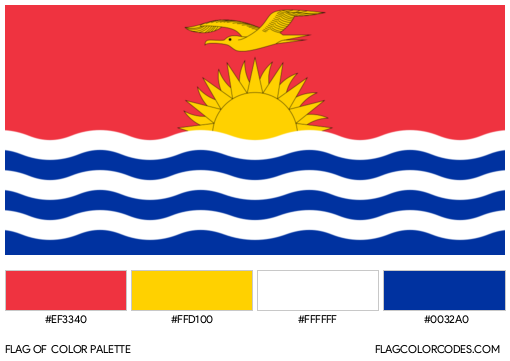 Kiribati Flag Color Palette