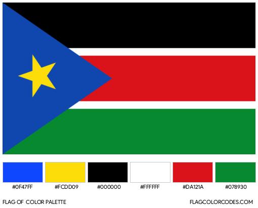 South Sudan Flag Color Palette