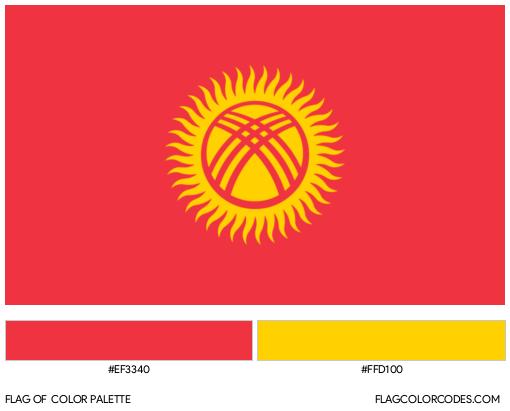 Kyrgyzstan Flag Color Palette