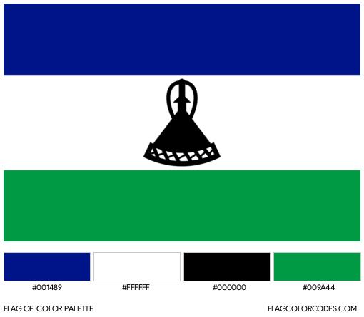 Lesotho Flag Color Palette