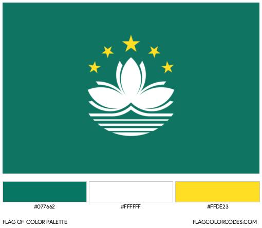 Macau Flag Color Palette