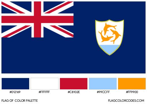 Anguilla Flag Color Palette