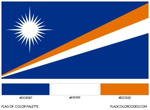 Marshall Islands Flag Color Palette