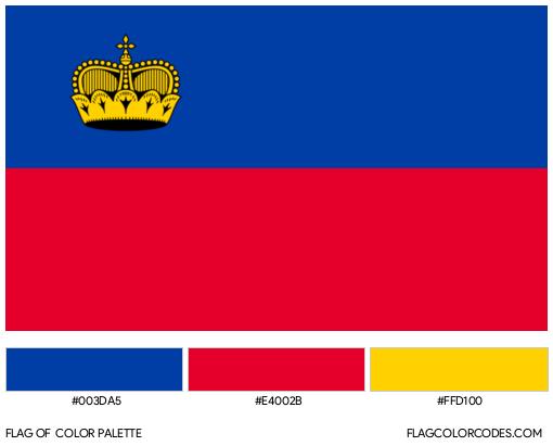 Liechtenstein Flag Color Palette