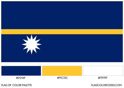 Nauru Flag Color Palette