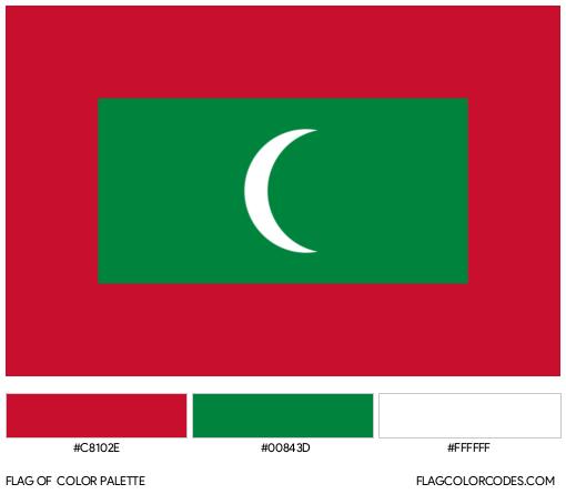 Maldives Flag Color Palette