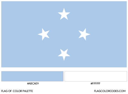 Federated States of Micronesia Flag Color Palette