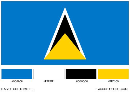 Saint Lucia Flag Color Palette