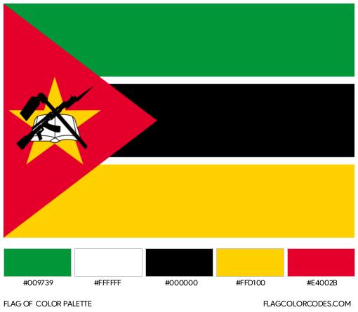 Mozambique Flag Color Palette