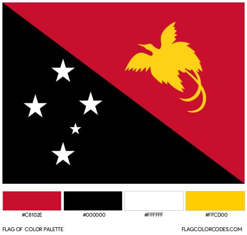 Papua New Guinea Flag Color Palette