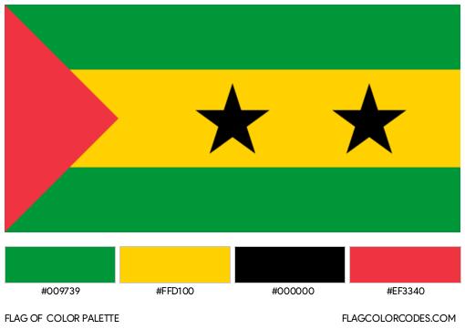 Sao Tome and Principe Flag Color Palette