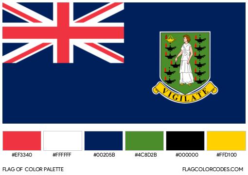 British Virgin Islands Flag Color Palette