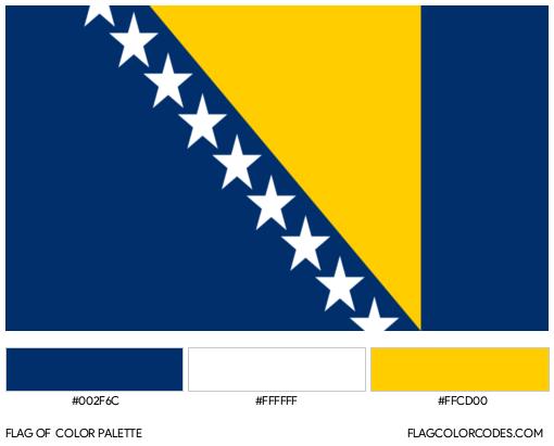Bosnia and Herzegovina Flag Color Palette