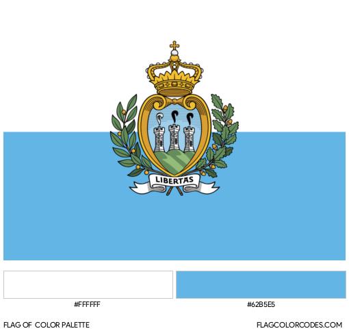 San Marino Flag Color Palette