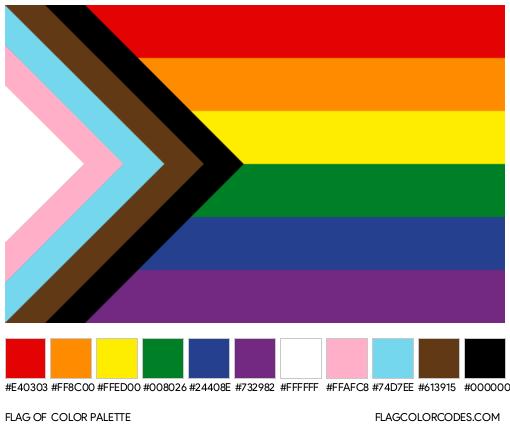 Progress Pride Flag Color Palette