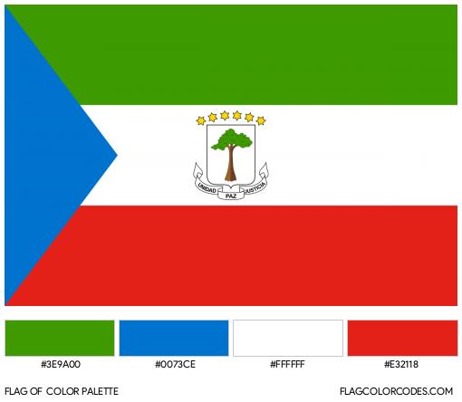 Equatorial Guinea Flag Color Palette
