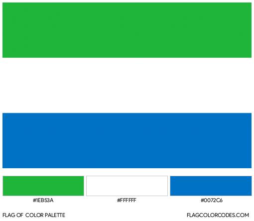 Sierra Leone Flag Color Palette