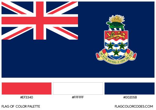 Cayman Islands Flag Color Palette