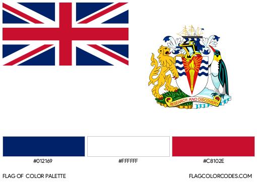 British Antarctic Territory Flag Color Palette