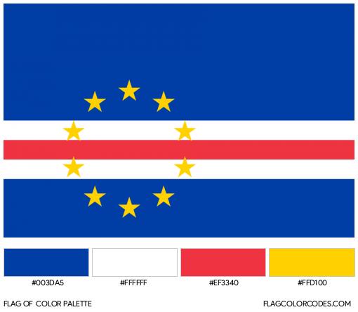 Cape Verde Flag Color Palette