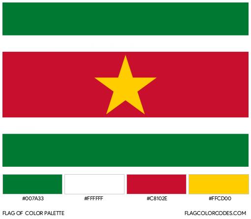 Suriname Flag Color Palette
