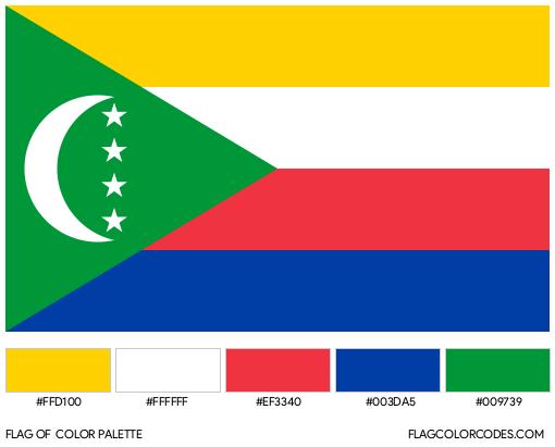 Comoros Flag Color Palette