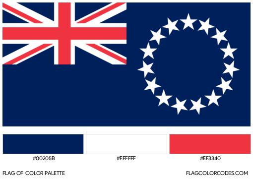 Cook Islands Flag Color Palette