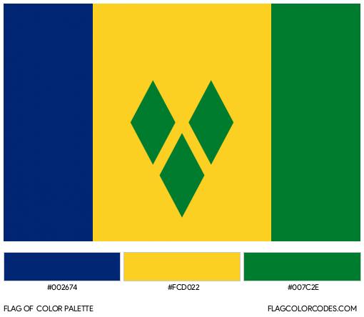 Saint Vincent and the Grenadines Flag Color Palette