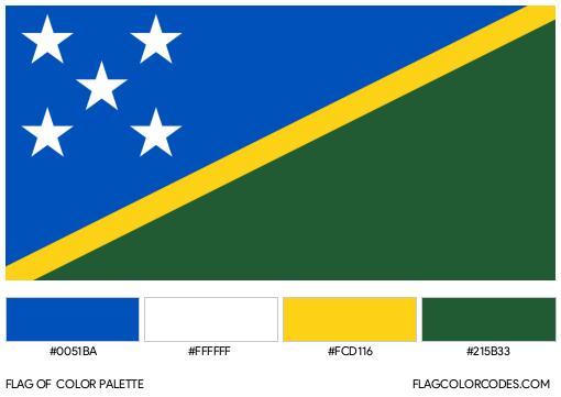 Solomon Islands Flag Color Palette