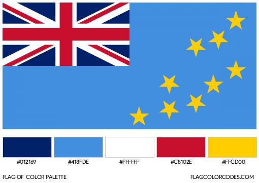 Tuvalu Flag Color Palette