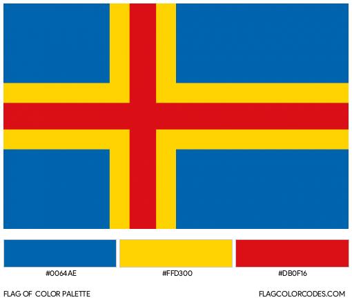 Åland Islands Flag Color Palette
