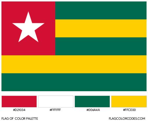 Togo Flag Color Palette
