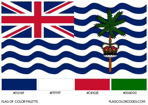 British Indian Ocean Territory Flag Color Palette