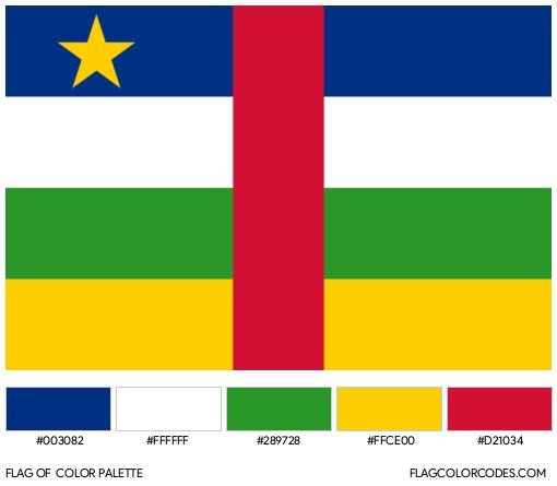 Central African Republic Flag Color Palette