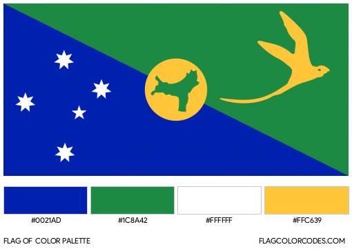 Christmas Island Flag Color Palette